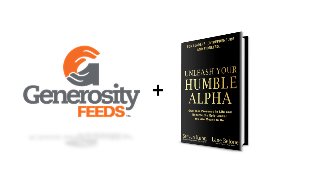 Co-Authors and military combat veterans Steven Kuhn (Bronze Star recipient) and Lane Belone (Green Beret) aim to feed five thousand children who are living with food insecurity with their book launch of 'Unleash Your Humble Alpha.' The world's first 'Strategic Philanthropy Book Launch' will donate 100% of net proceeds to an initiative called Generosity Feeds, which has provided over 3.6 million meals to children in the United States. Generosity Feeds is an initiative of the Replenish Foundation, a registered 501c3 Foundation. In the book, 'Unleash Your Humble Alpha,' Steven and Lane work as allies with Business Leaders, Entrepreneurs and Pioneers to rocket them to their next level by crushing societal expectations of men. This will birth a new energy which will pour out into their lives, relationships, business and teams to create what they call legendary Quality of Life.